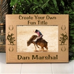 Bull Riding Picture Frame