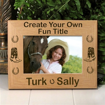 Personalized Horse Photo Frame