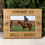 Cowboy Up Horse Picture Frame
