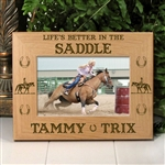'Life's Better In The Saddle' Personalized Horse Frame