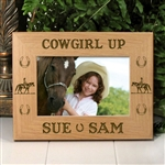 Cowgirl Up Horse Picture Frame