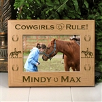 Cowgirls Rule Horse Picture Frame