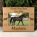 Personalized Horse Frame