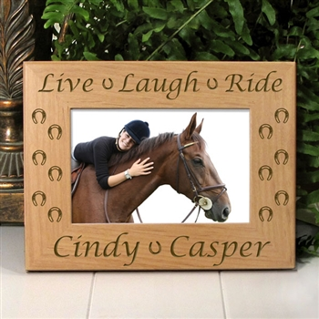 Live Laugh Ride Horse Picture Frame