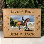 Live To Ride Horse Picture Frame