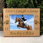 Live Laugh Jump Horse Picture Frame