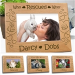 Rescued Bunny Personalized Frame