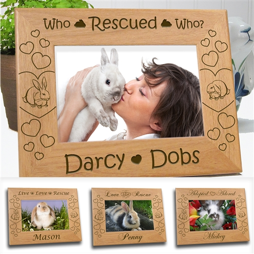 Pet Rabbit Picture Frames
