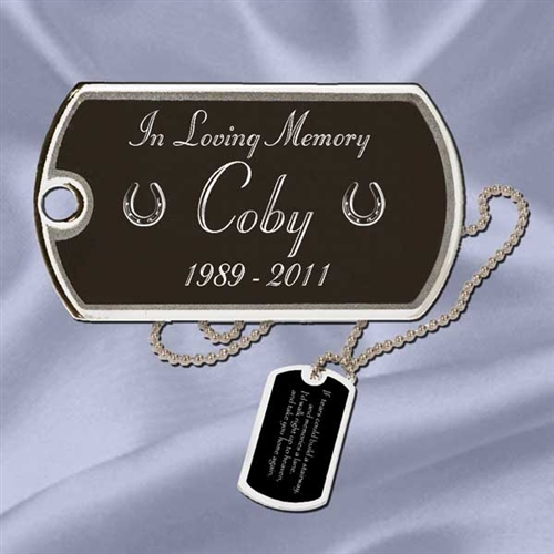 Horse Remembrance Dog Tag