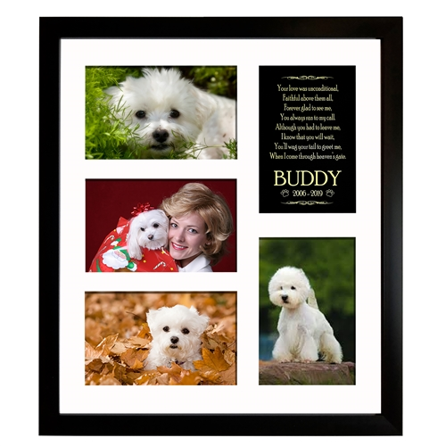 dog memorial collage photo frame