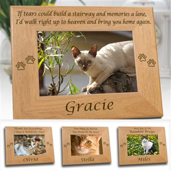 Popular Sentiments Personalized Cat Paw Frame