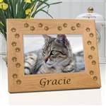 Paw Print Cat Memorial Frame