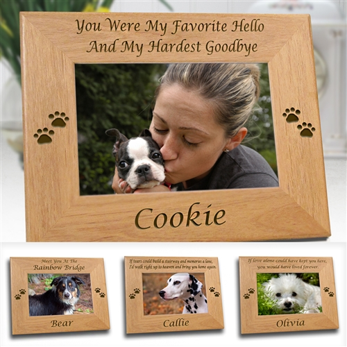 personalized picture frame dog memorials