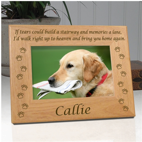 Dog Frame Personalized Pet Frame Who Rescued Who Best Friends Frame