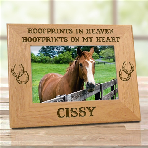 Personalized Horseshoe Memorial Frame