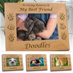 In Memory Of Rabbit Memorial Frame