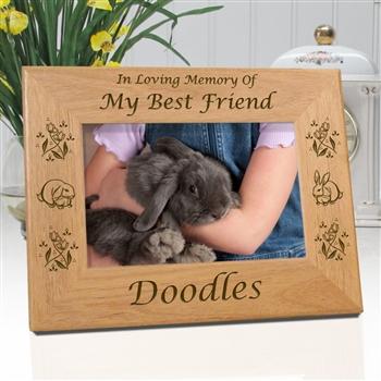 In Memory Of Rabbit Memorial Frame