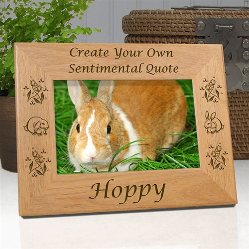 Create Your Own Memorial Frame For Rabbits Etched In My Heart