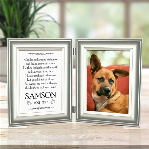 Custom Dog Memorial Double Frame