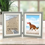 Personalized Dog Memorial Double Frame