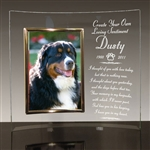 Personalized Glass Crescent Memorial Picture Frame For Dogs