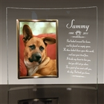 Dog Memorial Glass Frame