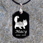 Dog Tag Cat Remembrance Pendant