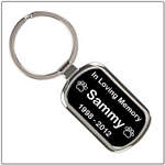 Dog Memorial Key Ring
