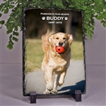 Dog Remembrance Photo Slate
