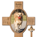 Custom Photo Wood Cross For Dogs