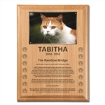 Rainbow Bridge Poem Memorial Plaque For Cats