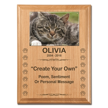 Create Your Own Cat Memorial Plaque
