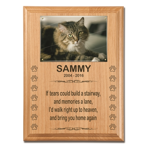 Here at Adirondack Stone Works, we craft natural bluestone pet memorials and pet grave markers. We are not a reseller of stones. We make everything that we sell.