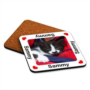 Photo Coaster For Cat Lovers