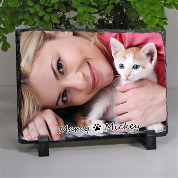 Cat Lovers Photo Slate