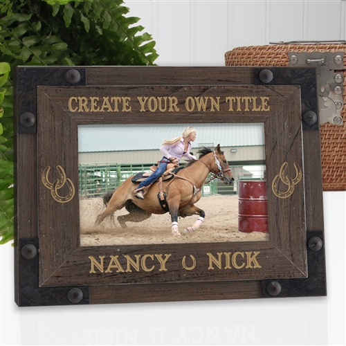 Rustic Ranch Horse Frame | Personalized Picture Frames