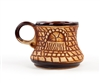 Brown Carved Mug