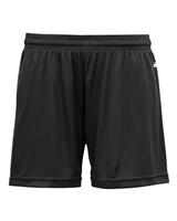 "Girls Sport Short with 4"" inseam. Sizes XS-XL. Black, Hot Pink"