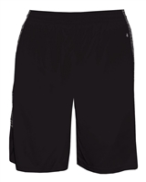 Youth Player Short with side pockets and contrasting fabric inset. Sizes XS-XL. Black