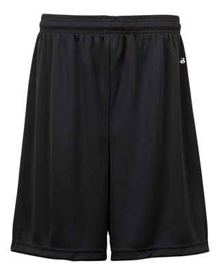 "Youth Action Short with 6"" inseam. Sizes XS-XL. Black"