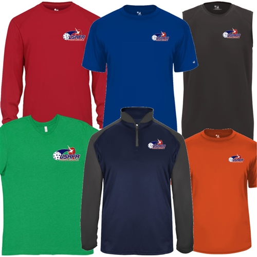 Men's USAPA Pro Shirt, choose shirt style, fabric and colors. Sizes S-3XL