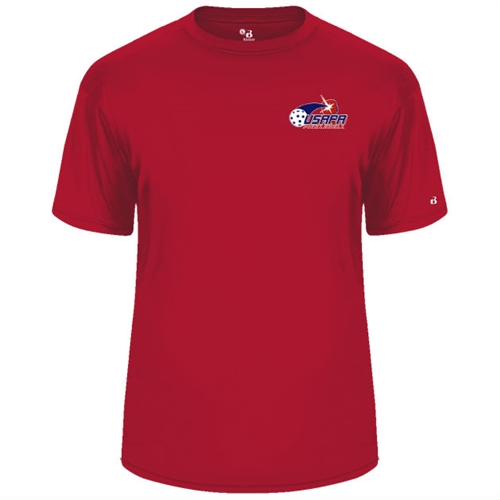 USAPA logo at left chest on performance fabric short sleeve shirt. Multiple colors. Sizes S-3XL