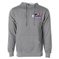 USAPA logo at left chest on cotton blend hooded sweatshirt. Multiple colors. Sizes XS-3XL