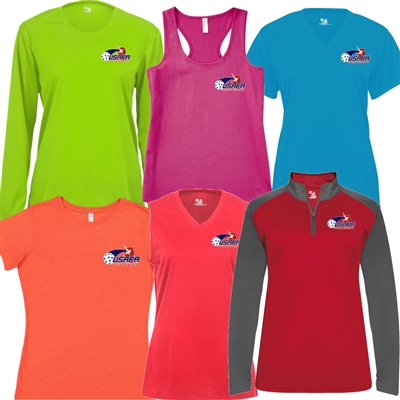 Women's USAPA Pro Shirt, choose the style, fabric and color. Sizes S-2XL