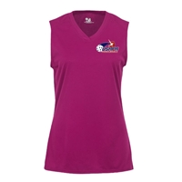 USAPA logo at left chest on performance fabric sleeveless shirt. Multiple colors. Sizes S-2XL