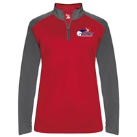 USAPA logo at left chest on UV protective, quarter zip, long sleeve shirt. Multiple colors. Sizes S-2XL