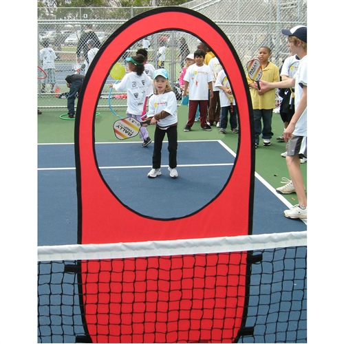 Easily attaches to net with Velcro, includes two targets.