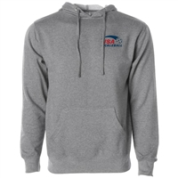 USA Pickleball Classic Pro logo at left chest in blue and red ink on cotton blend hooded sweatshirt. Multiple colors. Sizes XS-3XL