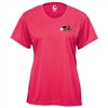 USAPA logo printed on Players Tee for Women. Sizes S-2XL. Hot Pink, Safety Yellow, Navy, Red