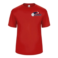 Youth Players Tee with printed USAPA logo. Sizes XS-XL. Navy, Red